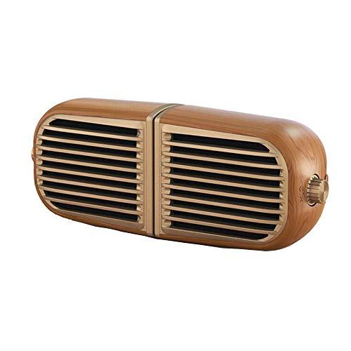LOKS Holzmaserung Magnetic Suction Creative Wireless Bluetooth Lautsprecher, bewegliche kleine Hauptdekoration Bluetooth-Lautsprecher, Bluetooth 4.2, Wireless Abstand ist 10M,Braun