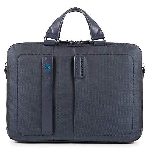 Piquadro P16 Laptoptasche mit Fach für iPad & Gerät Connequ für die Verbindung mit dem Smartphone 41 cm Chevron/Nero