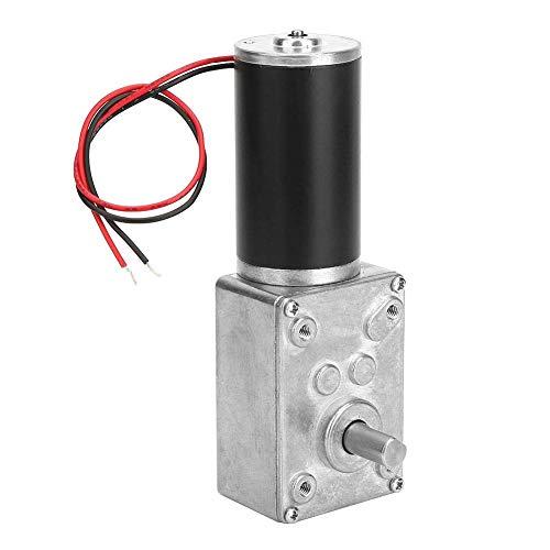 ZLININ Reducción de velocidad del motor, de alta velocidad de torsión Reducir eléctrico caja de cambios de motor reversible Worm Gear Motor 24V de 8 mm del eje (20 rpm)