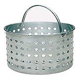 Update International ABSK-20 20 Qt Aluminum Steamer Basket,Silver