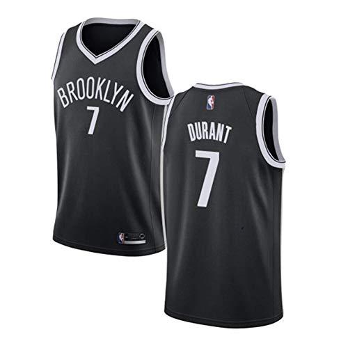 Durant #7 Brooklyn Basketball-Trikot für Herren, ärmellos, Rundhalsausschnitt, Sweatshirt, kleine Mesh, schnelltrocknend, atmungsaktiv (S-XXL) Gr. L, Schwarz