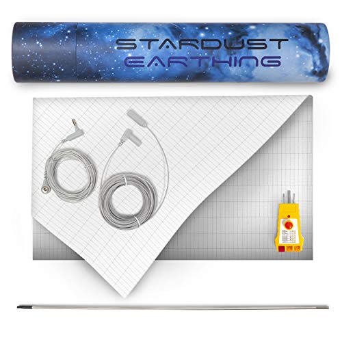 Grounding Fitted King-Size Sheet for Earthing with Grounding Cord - 400TC...