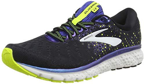 Brooks Men's Glycerin 17 Running Shoes, Black/Blue/Nightlife, 11.5 D (M)