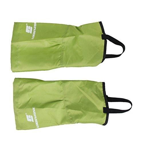 1 Paire Guêtres Jambières Imperméable pour Neige Escalade Randonnée - Grande Taille (Vert)