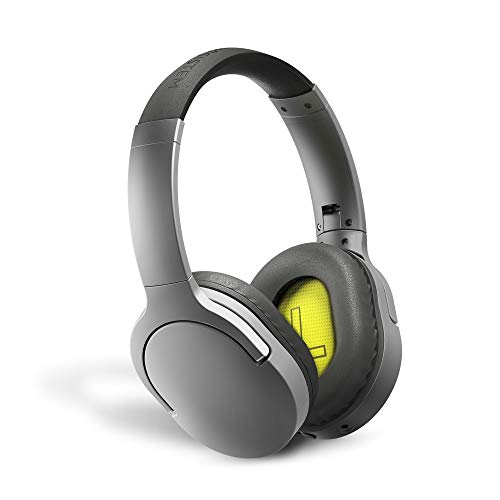 Energy Sistem Headphones BT Travel 5 ANC Auriculares inalambricos (Active Noise Cancelling, Bluetooth, Voice Assistant, Control Talk, Foldable, Extended Battery) - Gris