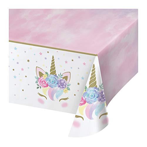 Generique - Tovaglia di plastica Unicorno fatato Taglia Unica
