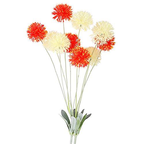 NAHUAA 2 pcs Ramas de Flores Artificiales 72 cm Plantas de Hibisco Falsas Beige Naranja Cabeza de Flor para El Hogar Decoración del Dormitorio Boda Fiesta Jardín Arreglos de Interior al Aire Libre