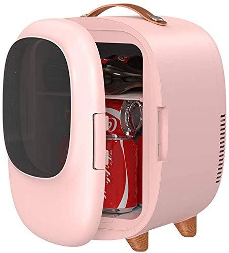 RENXR Enfriador Y Calentador Personal Portátil Refrigerador Compacto Mini Nevera Beauty De 8 litros AC/DC por Comida Protección De La Piel La Leche Materna Medicamentos,Rosado