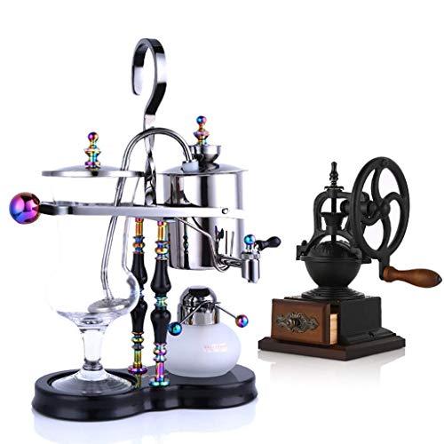 PXX Manuelle Kaffeemühle -Siphon Kaffeemaschine Kaffee-Set Syphon Belgische Jug Temperatur Einstellbare Große Handmühle Auf Vakuum-Kaffeemaschine
