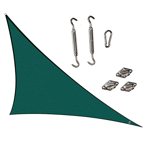 Cool Area Right Triangle 16'5'' X 22'11'' CAS-18520 Sun Shade Sail with SS Hardware Kit, Sand