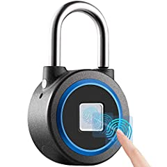 【Fingerprint unlock】- Farewell to cumbersome numbers, your finger is the key, do not have to worry about losing the key or the password is known to the thief, because they can not get your finger. 【Sturdy structure】 - The fingerprint lock body is mad...