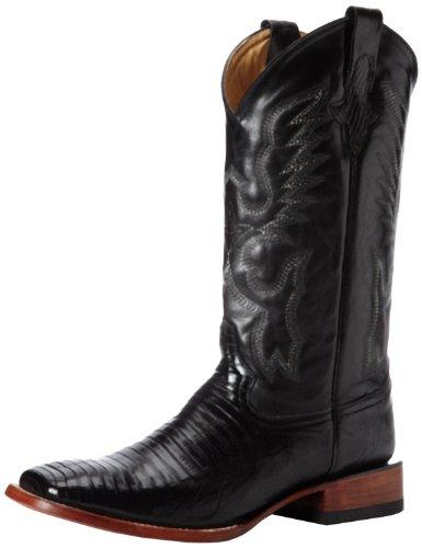 Ferrini Men's Lizard S-Toe, Black, 10.5 D US
