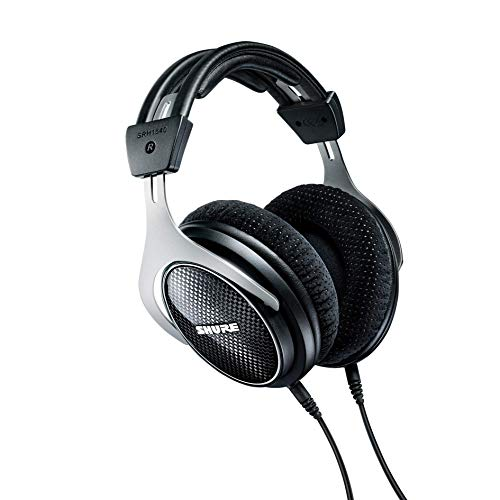 Shure SRH1540 Premium Closed-Back Headphones with 40mm Neodymium Drivers for Clear Highs and Extended Bass, Built for Professional Audio/Sound Engineers, Musicians and Audiophiles (SRH1540-BK)