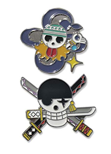 One Piece Nami And Zoro Skull Pin Set Anime Enamel Pin
