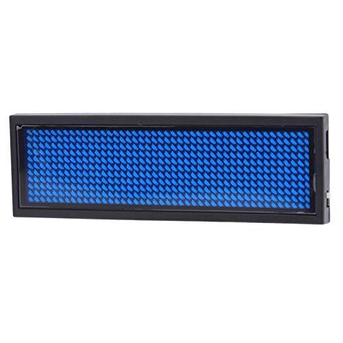 Pantalla de tarjeta LED inalámbrica recargable con insignia de nombre LED para restaurante de supermercado de fiesta de hotel de bar(blue)
