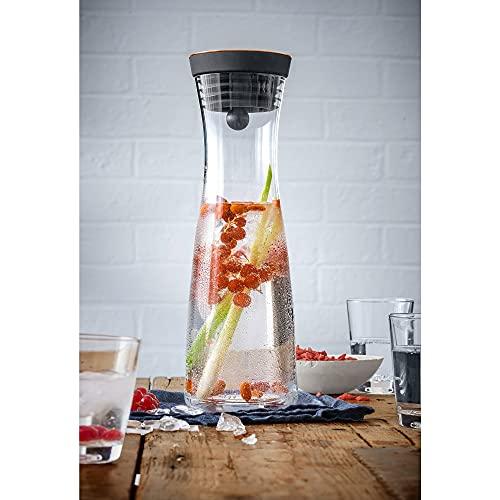 WMF Basic - Botella de agua de cristal, sistema Close Up, Sin accesorios, Cobre, 1,0 litros