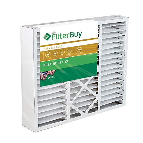 FilterBuy 20x25x5 Honeywell FC100A1037 Compatible Pleated AC Furnace Air Filters (MERV 11, AFB Gold). Replaces Honeywell 203720, FC35A1027, FC100A1037, FC200E1037, Carrier FILXXCAR-0020. 1 Pack.