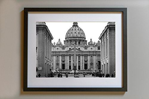 Vatican City, Saint Peter, Travel Photography, Rome Poster, Rome Wall Art, Italy Wall Decor, Black And White, Architecture, Religious Decor