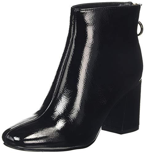 Dorothy Perkins Afar Gold Trim Heel Back Zip Boot, Bottes Classiques Femme, Noir (Black 010), 42 EU