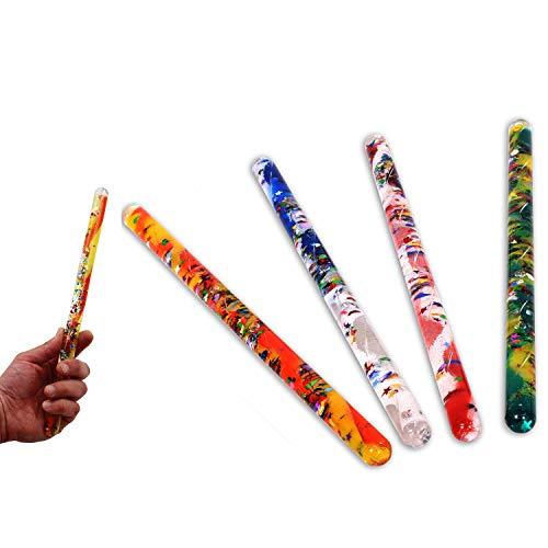 4 Glitzer Zauberstäbe je 32 cm lang und zweifarbig