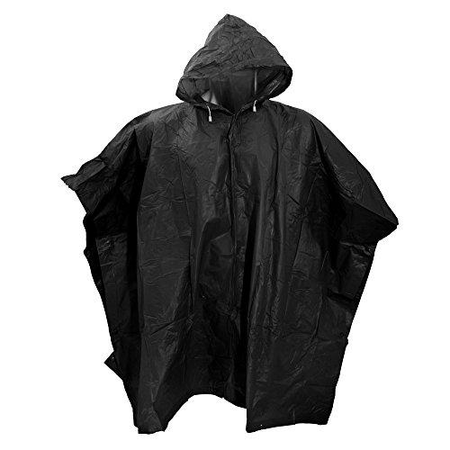 Splashmacs Unisex Regenponcho / Regenschutz, besonders leicht One Size,Schwarz