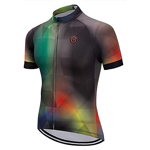 Weimostar Cycling Jersey Men Short Sleeve Road Bike Shirt Riding Tops Outdoor MTB Bicycle Clothing Size XL Brown