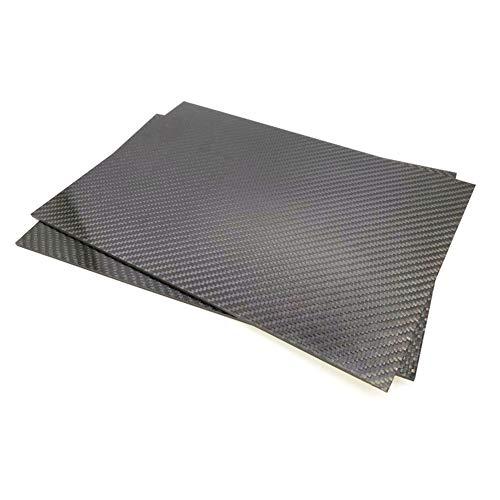 SSSabsir 200mmx300mm 3K Carbon Fiber Sheet Matt Plate 0.5mm 1mm 2mm 3mm 4mm 5mm High Composite Hardness RC Material 200X300X5mm