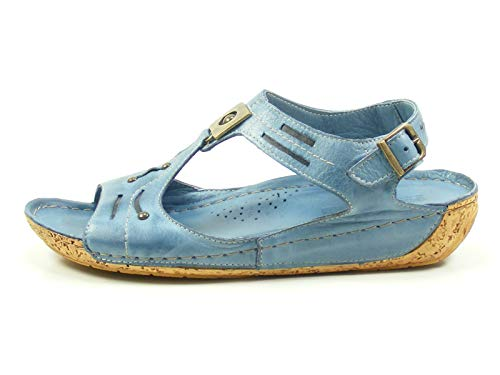 Gemini 032013-02 Schuhe Damen Sandalen Sandaletten, Größe:41 EU, Farbe:Blau