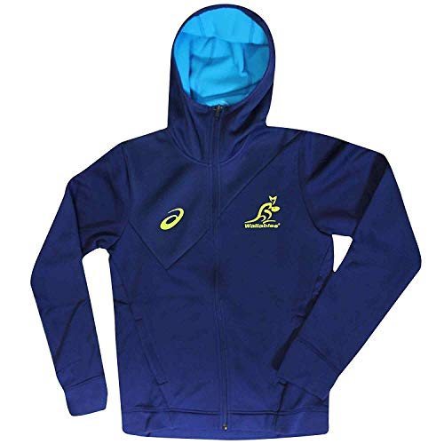 Wallabies Offizielles Australien Rugby World Cup Fans Kapuzenjacke von Asics, Unisex, Hoodie BLU 125064WR, blau, S