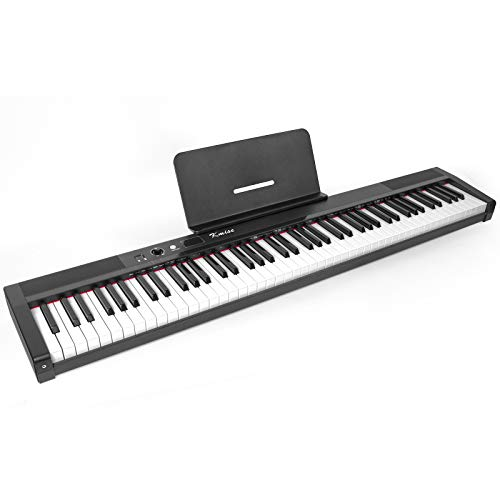 Kmise Digital Piano 88 Key Full Size Semi Weighted Electronic Keyboard with Music...