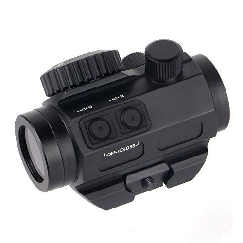 FOCUHUNTER Optics Zielfernrohr 1 X 22 Rot / Grün-Punkt-Visier, wasserdicht, beschlagfrei und stoßfest 3MOA Sight Tactical 20 mm Picatinny-Visier für die Jagd auf Kurzwaffen