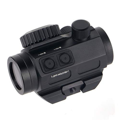 FOCUHUNTER Optics Zielfernrohr 1 X 25 Rot/Grün-Punkt-Visier, wasserdicht, beschlagfrei und stoßfest 3MOA Sight Tactical 20 mm Picatinny-Visier für die Jagd auf Kurzwaffen