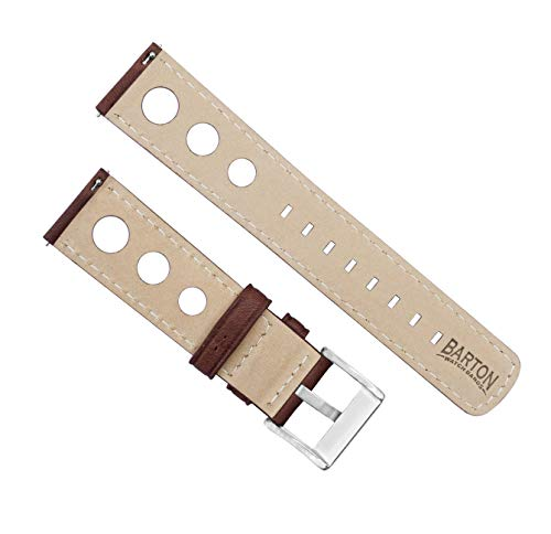 Barton Rally Horween Leather Straps – Integrated Quick Release Spring Bars- 316L Stainless Steel- Choose Color – 18mm, 19mm, 20mm, 21mm, 22mm, 23mm & 24mm Watch Bands