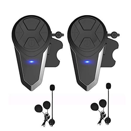 HuanGou Motorcycle Bluetooth Headset, BT-S3 Type-C Version 1000M Helmet Intercom Headphones Up to 3 Riders Supports FM Radio GPS Music Hands-Free Walkie-Talkie(Dual))