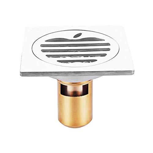 Voixy Bodenablauf für Badezimmer, Küche, Balkon, aus Edelstahl 304, 10 x 10 cm (525, tief)