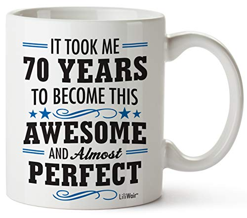 1950 70th Birthday Gifts Men Women   Birthday Gift for Man Woman turning 70   Funny 70 th Party Supplies Decorations Ideas   Seventy Year Old Bday Coffee Mugs   70 Years Gag Office Cups Presents Mens