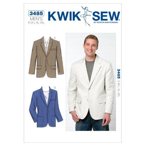Kwik Sew K3485 Blazer Sewing Pattern, Size S-M-L-XL-XXL