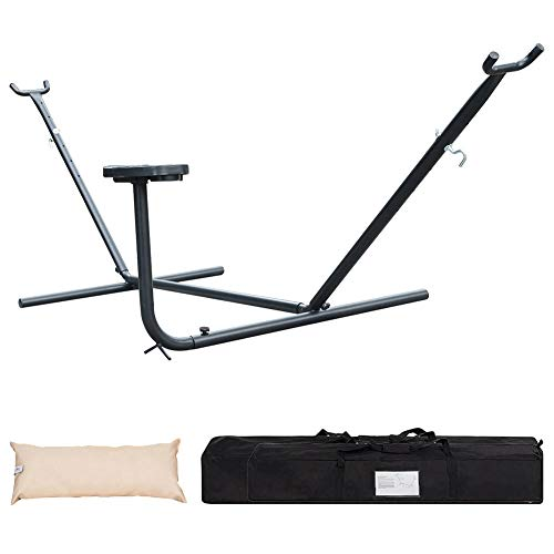 Portable Métal Support Hamac Pliable pour Hammac, Charge jusqu'à 150kg (260x107x100cm) Hamac La Siesta pour Patio Yard Outdoors