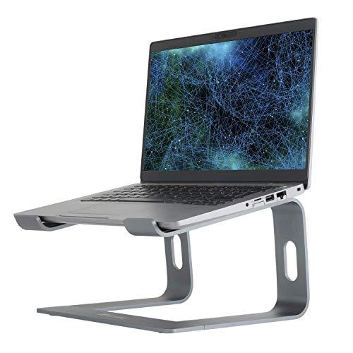 Konsol - Soporte para ordenador portátil desmontable con ventilación, compatible con portátiles MacBook Pro/Air, HP, Dell, Lenovo, Samsung, Acer, Huawei MateBook (gris)
