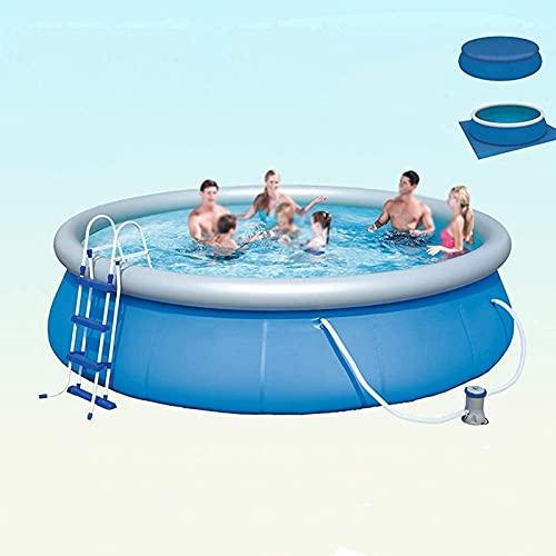 paddling pools Inflatable Pools,Swim Centre Family Inflatable Swimming Pools,Indoor and Outdoor Large Capacity Inflatable Round Paddling Pool,Thickened Environmental Protection PVC,457x107cm