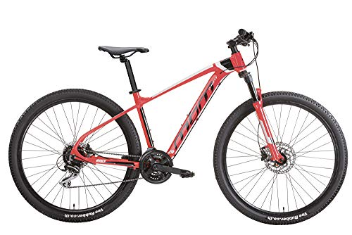 MBM QUARX 29' Disk BR. MTB All 24S SUSP F - Bicicleta Unisex para Adulto, Color Rojo A20, 43