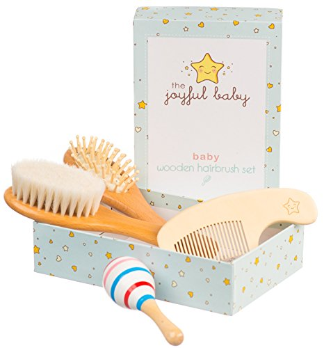Baby Hair Brush and Comb Set - Wooden...