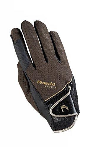 Roeckl Sports Handschuh Madrid, Unisex Reithandschuh, Mokka, Größe 7