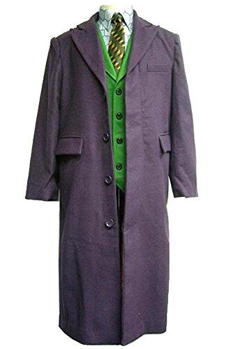 OEM Joker Long Trench Coat Dark Knight Costume (M) Purple