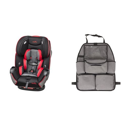 Amazing Deal Evenflo Symphony LX Car Seat, Crete with Deluxe Car Backseat Organizer, Grey Melange