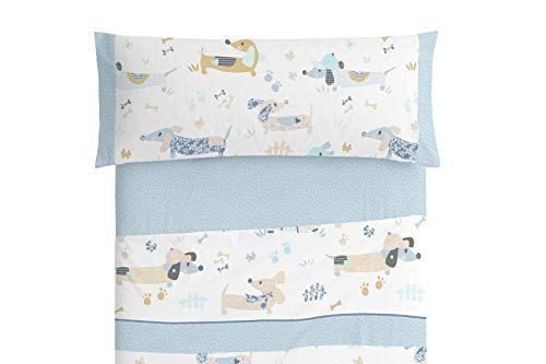 Burrito Blanco Juego de sábanas Infantil 169 Azul