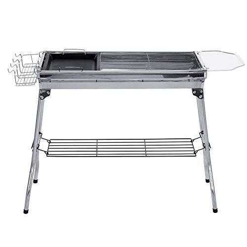 Wifehelper Grill Grill RVS Folding BBQ Kit fornuis houtskoolgrill Outdoor eten koken tuingereedschap accessoires