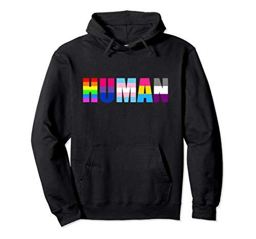 HUMAN Flag LGBT Gay Pride Month Queer Pride Hoodie