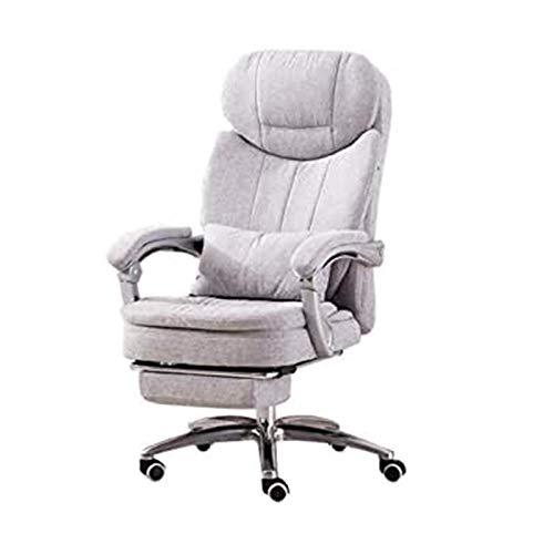 DJDLLZY - Sedia ergonomica da ufficio, con schienale alto, supporto lombare, con braccioli, altezza regolabile, schienale e poggiatesta