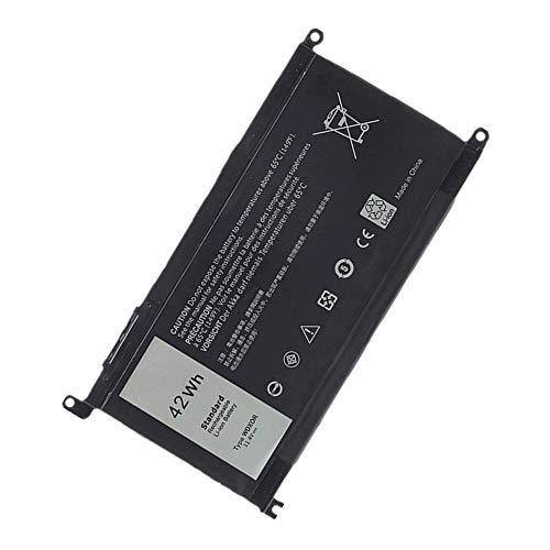 WXKJSHOP Batteria di ricambio compatibile per Dell Inspiron 13 5000 Series 13 5368 13 5378 5379 3CRH3 T2JX4 WDX0R WDXOR FC92N CYMGM 11.4V